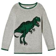 GAP Light Grey Dinosaur Sweater 12-18 mnd